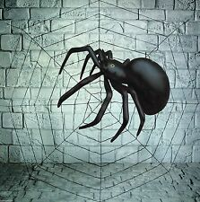 GIANT 5ft SPIDERS WEB & 91cm INFLATABLE SPIDER HALLOWEEN PARTY DECORATION