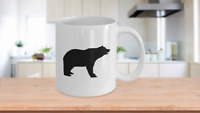 Bear Coffee Mug Gift for Hunter Outdoorsman Country Life Cabin Woodman Grizzly