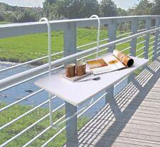 Table de Balcon Pliante Suspension Pliable Suspendue Blanc