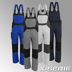 Qualitex Latzhose X-Serie Herren Blaumann Arbeitshose Werkstatthose Workwear