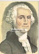 CURRIER and IVES George Washington 1952 Print Portrait