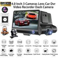 "4""Car Dual Lens DVR 1080P Dash Cam Front and G-sensor Rear Video Recorder Camera"