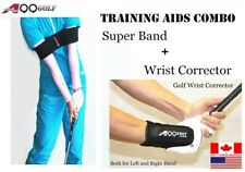 A99 Golf training swing aids super band + wrist corrector