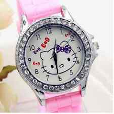 Precioso Reloj Hello Kitty Redondo Rosa Analogic Watch A1853