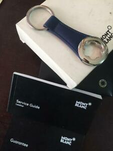montblanc key holder leather big logo collection good condition