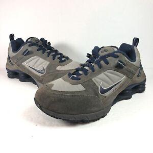 Vintage Nike Shox Olive Street Shoe Suede Beige Blue 855 Size 11 311121 041