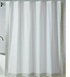 "WAMSUTTA Collective Sheffield Shower Curtain 54"" x 78"" Peyote White/ Silver"