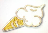 ICE CREAM CONE CORNET SUMMER Embroidered Sew Iron On Cloth Patch Badge APPLIQUE