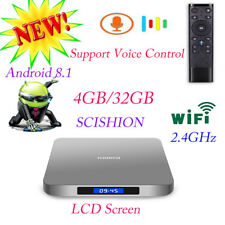 SCISHION AI ONE 4GB+32GB Android 8.1 RK3328 4K BT4.0 Voice Control Smart TV Box