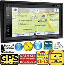 FITS TITAN GPS NAVIGATION SYSTEM BLUETOOTH USB/SD CD/DVD CAR RADIO STEREO PKG