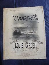 Partition L'immensità Louis Grech Music Sheet Grande Formato