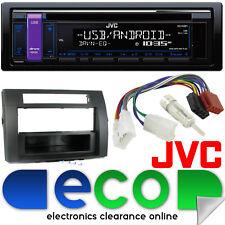 Toyota Corolla Verso JVC CD MP3 USB Aux Radio Stereo Player & BLACK Fitting Kit