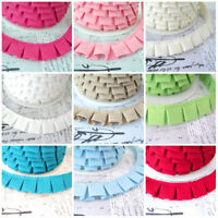 BOX PLEAT - GATHERED TRIM FABRIC Cotton RIBBON edging braid pleated dressmaking