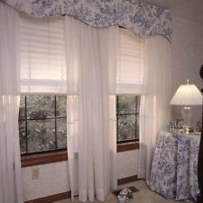 Home Decor Pleated White Fabric Window Blind Shade Curtain Hang Rv Camper 48x72""