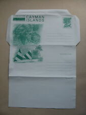 CAYMAN ISLANDS, ill. prestamped aerogramme, mint, tourism reptile turtle 20c