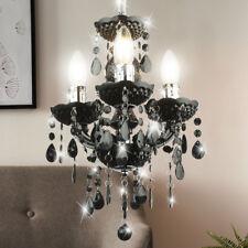 Lustre en cristal noir salon pendentif éclairage plafond lampe suspendue neuf