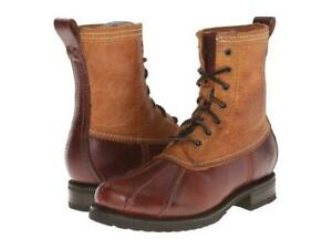 New in Box - $398 FRYE Veronica Duck Cinnamon Leather/Shearling Boot Size 7
