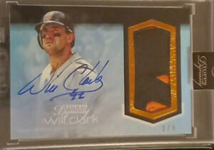 2018 TOPPS DYNASTY WILL CLARK #WCL1 GIANTS GAME USED JUMBO PATCH AUTO #/5