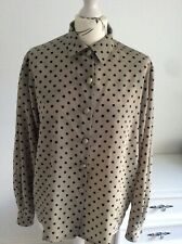 "Vintage Jaeger Blouse Size 38"" in Beautiful Condition Black polka dot"