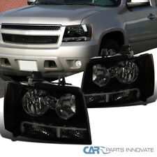 Smoke Lens Black Headlights For 07-13 Avalanche Tahoe Suburban LS LT LTZ+Signal