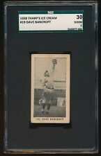 1928 THARP'S ICE CREAM DACE BANCROFT SGC 30 GOOD 2   #19