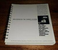 1987 Vintage Multitech / ACER 710 Computer USER GUIDE BOOK MANUAL Instructions