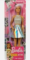 Barbie You Can Be Anything Pop Star. Career Doll with Purple Hair and Microphone