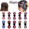 Lots 6/12pcs Girls Sweet Crystal Rhinestone Flower Mini Hair Claws Clips Clamps