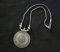 Tibetan India Ethnic German Silvr Oxidized Antique Tribal Gypsy Fashion Necklace