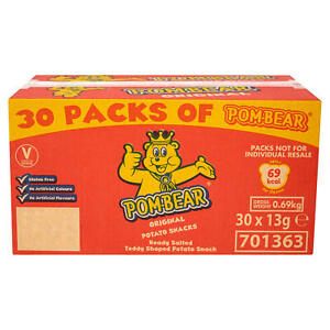 30 x Pom-Bear Original Potato Snacks Crisps Bear 13g Gluten FREE DELIVERY