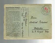 1940 Germany Dachau Concentration Camp KZ Cover w/ltr Kasimir Piotrzkowski