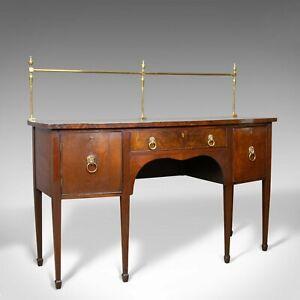 Antique Sideboard, English, Regency, Server, Mahogany, 19th Century, Circa 1830