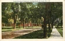 Florida, FL, De Land, North Woodland Boulevard 1920's Postcard