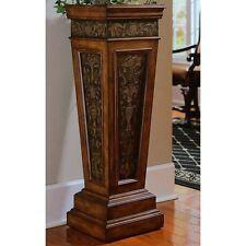 Wood Plant Stand Antique Vintage End Table Pedestal Column Accent Furniture New