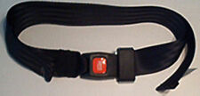 "Continuous Loop, Wrap Around, Wheel Chair Restraint,Seat Belt,Seatbelt:Black,60"""