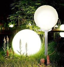 Jumbo Giant LED Solar Garden Mood Ball Sphere Globe Stake Light White 25cm