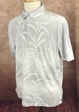 Nat Nast Luxury Originals Short Sleeve Polo Gray Stripe Shirt Men's L