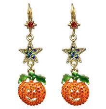 Kirks Folly Starry Night Pumpkin Leverback Earrings  Halloween  Ant. GT
