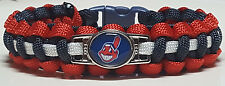"""Cleveland Indians """"Chief Wahoo"""" Handmade Custom Sized Paracord Bracelet - See Ad"""
