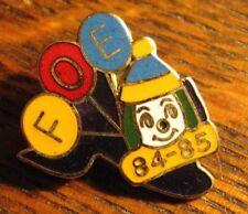 Fraternal Order Of Eagles Lapel Pin - F.O.E. FOE Vintage 1984 Clown Balloons Pin