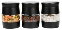 Set Of 3 Kitchen Tea Coffee Sugar Canisters Stainless Steel Storage Pots (N0118)