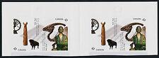 Canada 2726b Booklet Gutter Pair MNH - Royal Ontario Museum, Dinosaur, Art