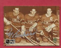 RARE CANADIENS MAURICE THE ROCKET RICHARD  AUTHOGRAPH CARD