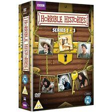 BBC Horrible Histories DVD - Series 1-3 - 6 Discs - Region 2 - Mint Condition