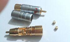10pcs di alta qualità oro placcato Nakamichi RCA spina SERRATURA FREE SOLDER A/V Connettore