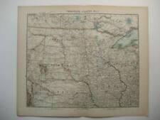 UNITED STATES DAKOTA NEBRASKA IOWA ANTIQUE MAP 1905