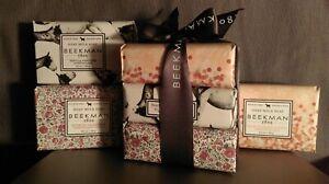 GIFT Set of 3 BEEKMAN-1802 Goat Milk Soaps,Sensitive Skin3.5oz Ea. twgt 10.5oz
