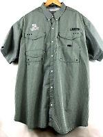 Columbia PFG Mens Super Bonehead S/S Casual Vented Fishing Shirt Green Plaid XXL