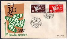 EUROPA CEPT FDC 1961 ESPAGNE 2