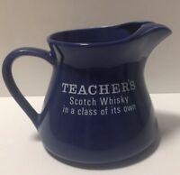 Vintage Blue Teachers Scotch Whiskey Jug Collectable Barware Man Cave